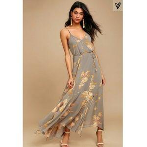BRAND NEW Feeling Freesia Floral Maxi Dress Small